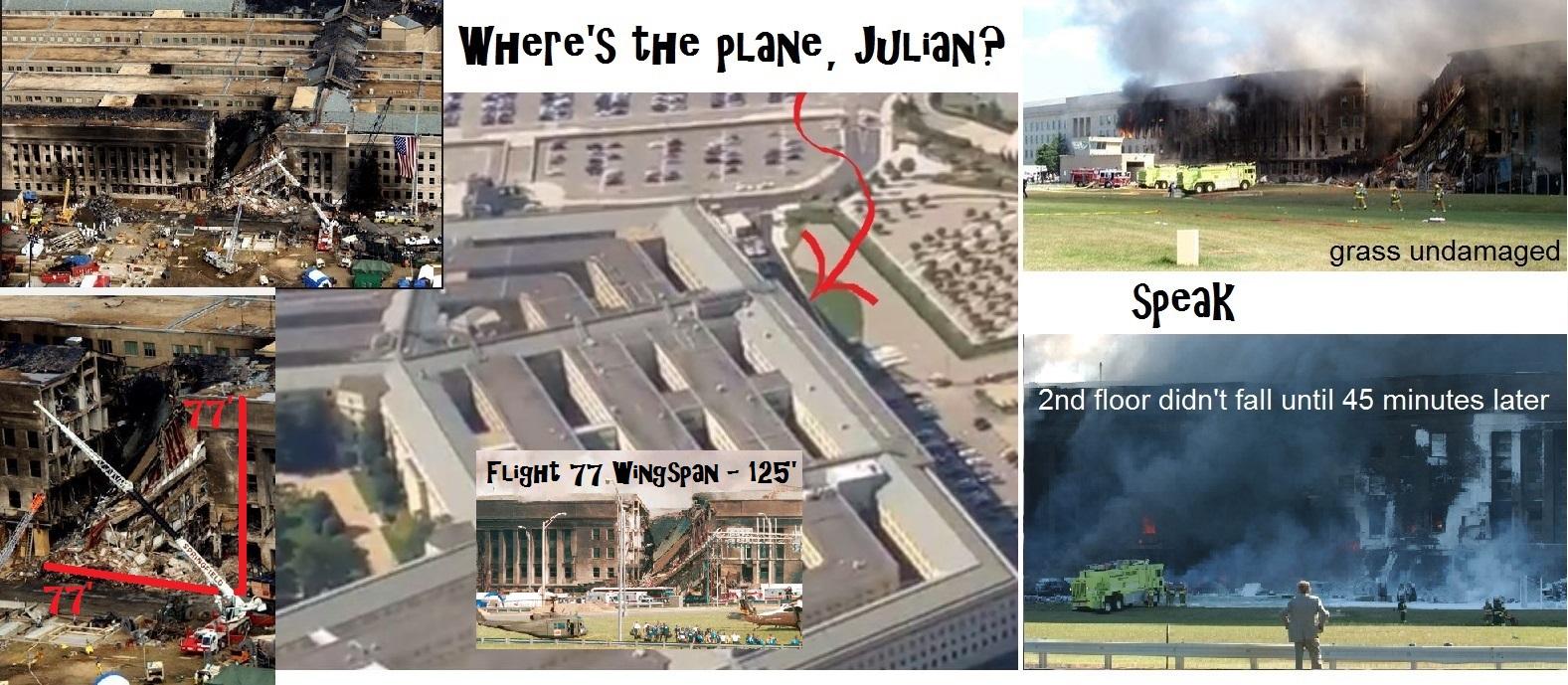Julian Assange September 11 Pentagon 1